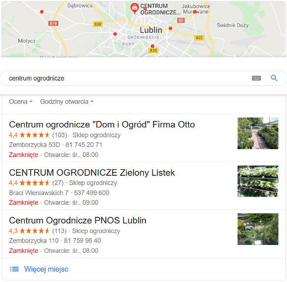 Wyniki wyszukiwania dla słowa centrum ogrodnicze z geolokalizacją w Lublinie