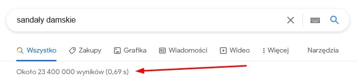Lista wyników wyszukiwania